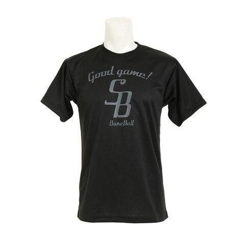 ドライプラス メッセージTシャツ 723G7ES1524 BLK