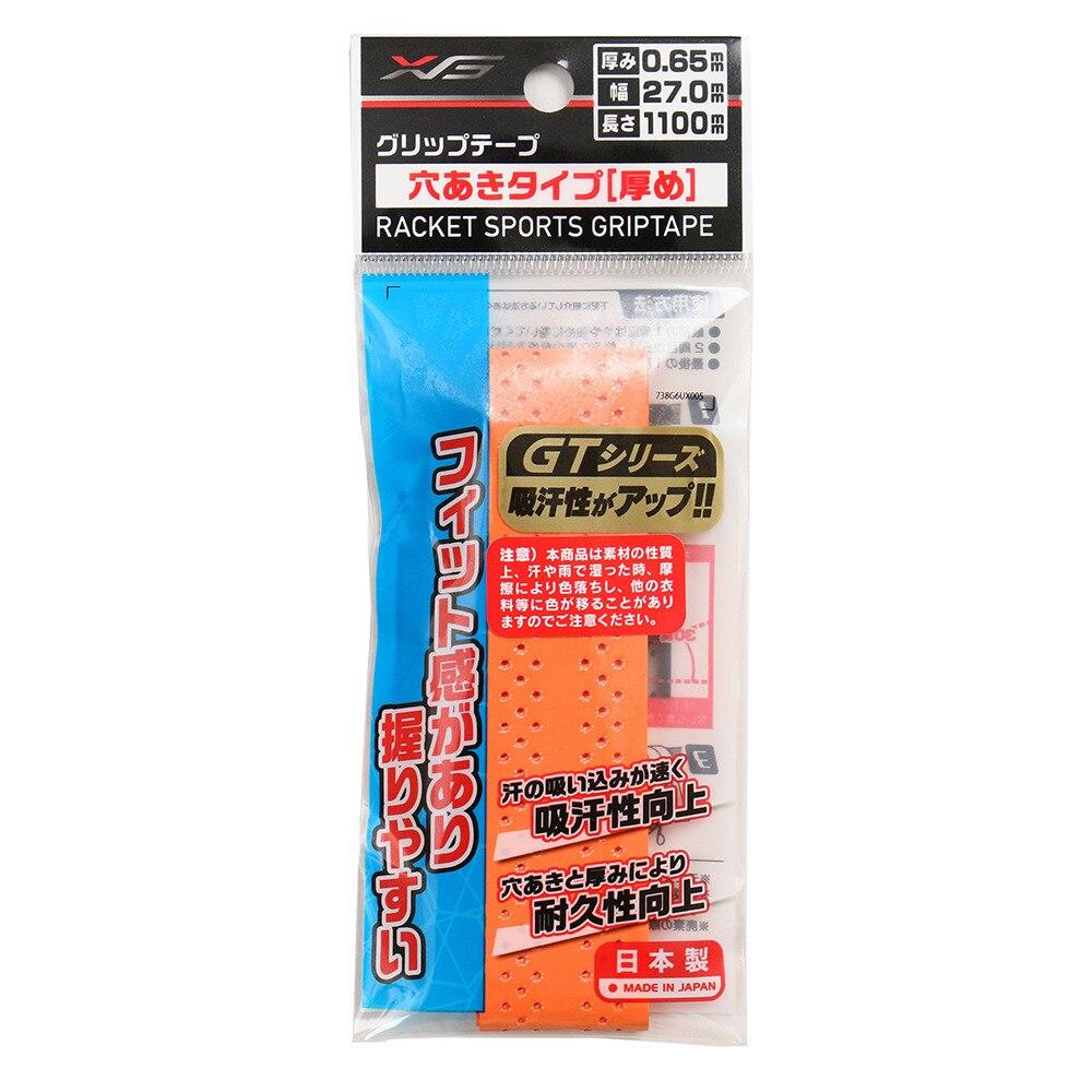 【セール実施中】テニスグリップテープ 穴あきタイプ 738G6UX005 ORG