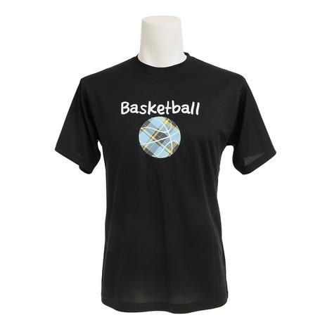 ドライプラス 半袖 プリントTシャツ 751G7CD2039 BLK