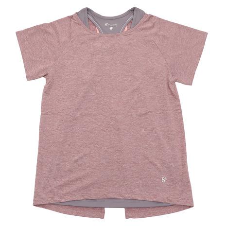 フィットネス ドライTシャツ&タンクトップ ラズベリー