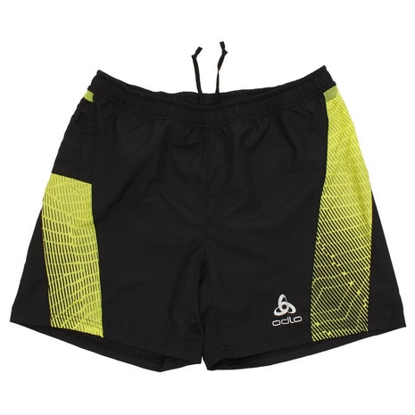 Shorts with inner brief OMNIUS 321882 black-acid lime