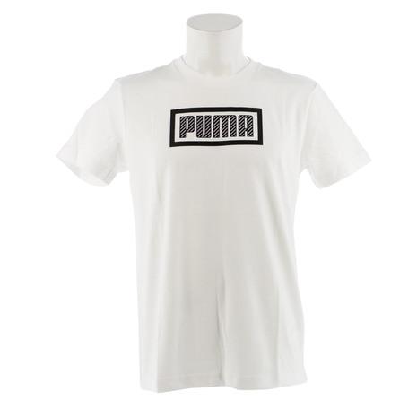 <ゼビオ> 【ゼビオ限定】 バンドル PUMA LOGO Tシャツ 854048 02 WHT画像