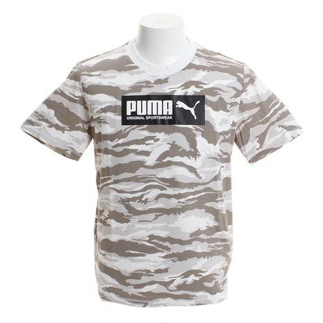 【ゼビオグループ限定】 AOP グラフィック 半袖Tシャツ 845234 02 WHT オンライン価格