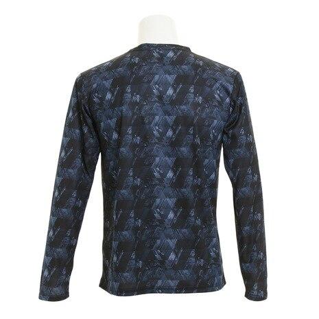 ドライプラスUV 総柄ロングスリーブTシャツ 863D7HD3001 NVY
