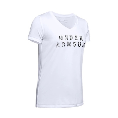 UA Tech SS V Neck Graphic