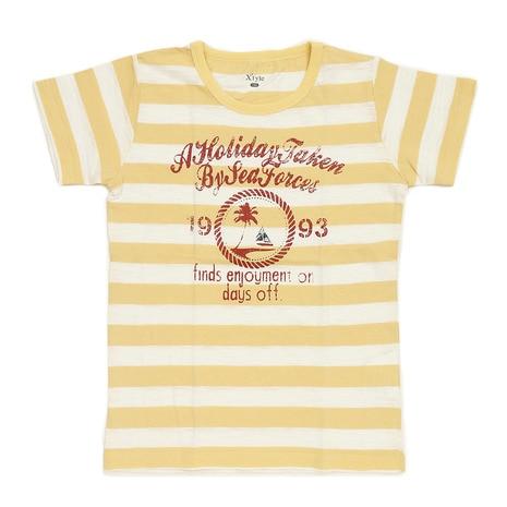 ボーイズ マリンプリントTシャツ 865C6HT4634 YEL