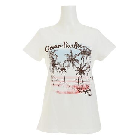 プリント半袖Tシャツ 526551 D WHT