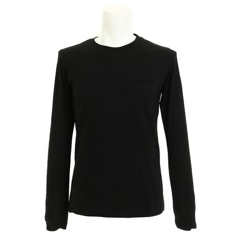 ACR 天竺ロングスリーブ ポケット付きTシャツ 871C5MR6328 BLK