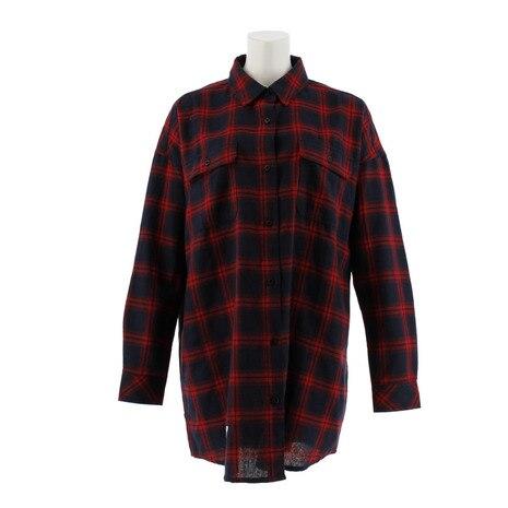 刺繍チェックシャツ CH24L016 RED