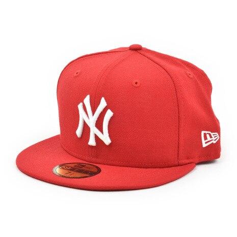 59FIFTY MLB ニューヨーク・ヤンキース スカーレット×ホワイト 11308546