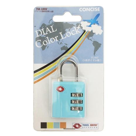 TSA 3桁ダイヤル錠 BLU CON99745