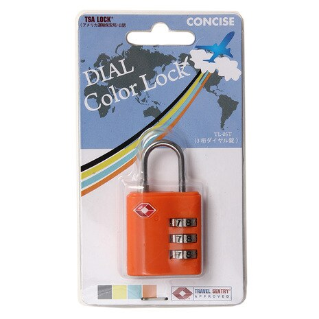 TSA 3桁 ダイヤル錠 TL-05T ORG CON99776
