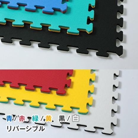 <ゼビオ> ジョイントマット リバーシブル 緑/黄 F-e01-02画像