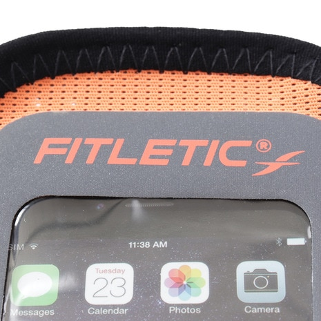 fitletic Soft Armband for Smartphone Surge with Window Black S//M