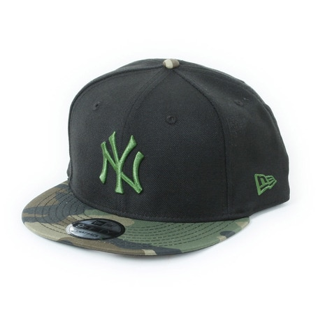 4e8c96b65f300 9FIFTY ニューヨーク・ヤンキース ブラックxホリーリーフ ウッドランドカモバイザー 11308470 メンズ 帽子 キャップ ニューエラ(NEW  ERA) ...